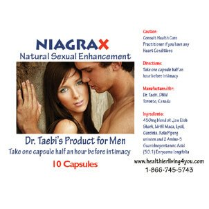 NiagraX – Natural Sexual Enhancement for Men (10 Capsules)