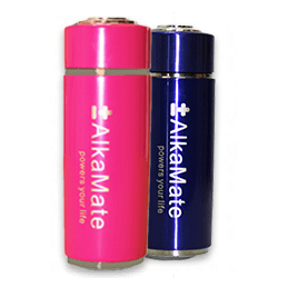 portable alkaline water bottle pink blue